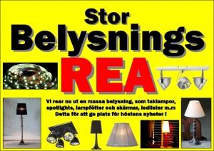 Belysning REA aug 2013